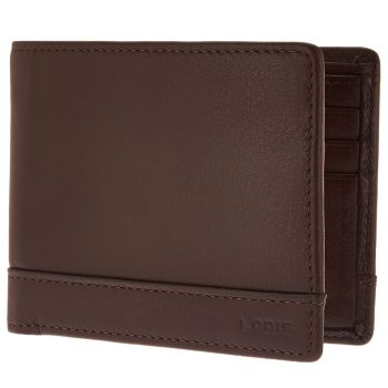 LODIS Men's Italian Leather RFID Bi-fold Wallet