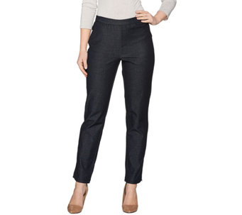 H by Halston Regular Studio Stretch Pull-On Ankle Pants - A286259