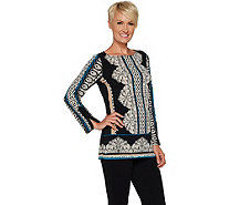 Susan Graver Printed Liquid Knit Tunic - A294859
