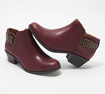 Vionic Orthotic Suede Ankle Boots with Buckle - Millie - A297659