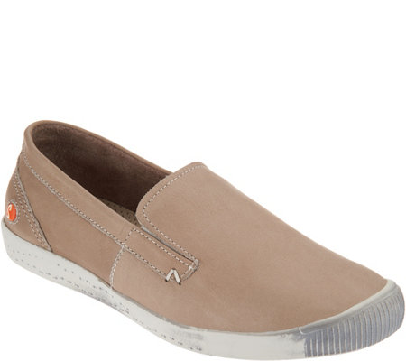 """As Is"" Softinos by FLY London Leather Slip-on Shoes- Ita"