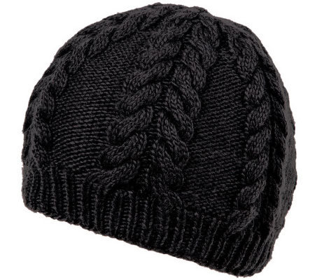 Nirvanna Designs Soft Wool Cable Beanie with Fleece