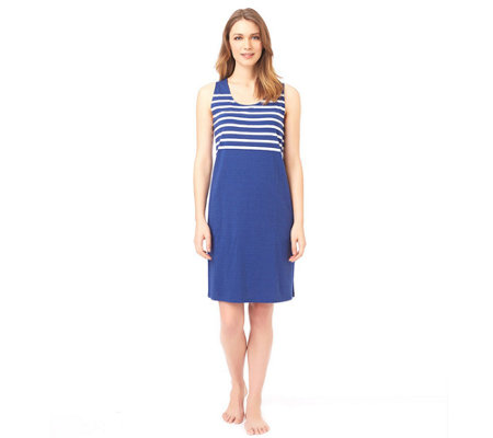 Stan Herman Cabana Stripes Tank Dress