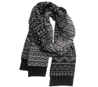 MUK LUKS Men's Patterned Scarf - A334659