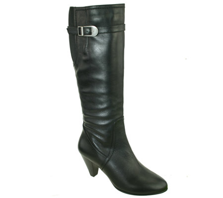 David Tate Wide-Calf Tall Leather Boots - Darling 18