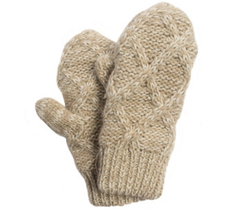 MUK LUKS Women's Textured Diamond Potholder Mittens - A337559