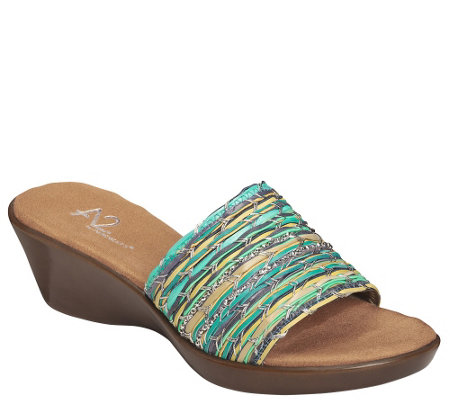 A2 by Aerosoles Wedge Slide Sandals - Say Yes