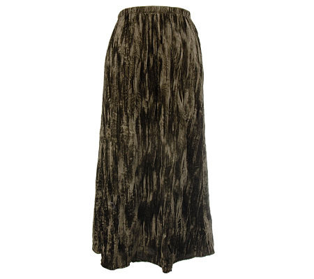 Susan Graver Velvet Broomstick Pull-on Skirt