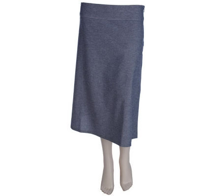 Elisabeth Hasselbeck for Dialogue Chambray Skirt