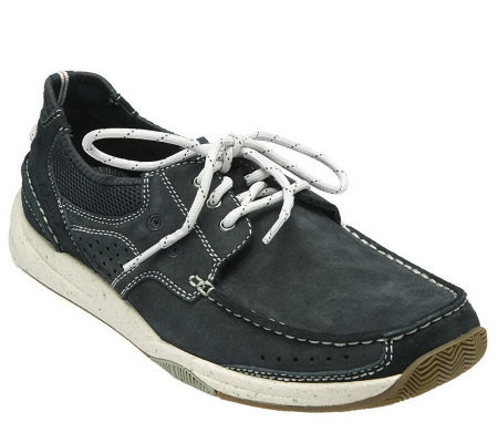 clarks mens saranac leather lace up shoe page 1 qvc