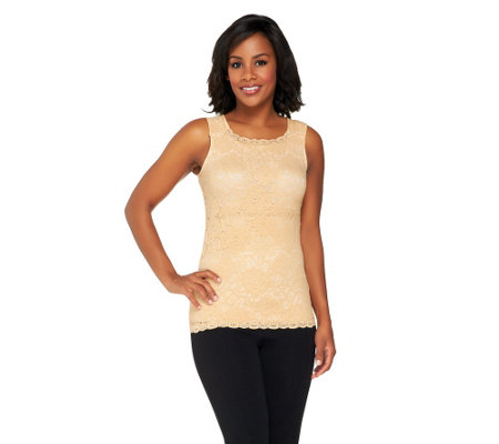 Kathleen Kirkwood Lace Cami with Tummy Control Tube