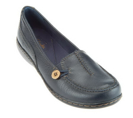 Clarks Bendables Ashland Scurry Leather Moccasins