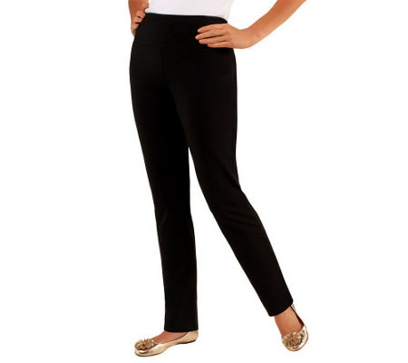 """As Is"" Women with Control Tall Slim Leg Pants with Tummy Control"