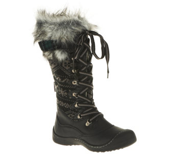 MUK LUKS Gwen Lace-Up Knit Snow Boots with Thinsulate - A257860