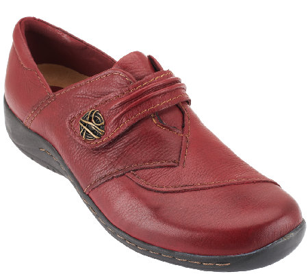 Earth Leather Monk Strap Slip-on Shoes - Savin