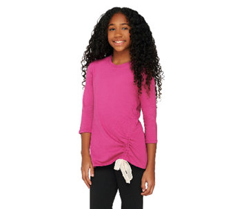 LOGO Littles by Lori Goldstein Knit Top with Side Ruching - A261860