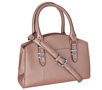 Tignanello Saffiano Leather Triple Compartment Domed Satchel - A272260