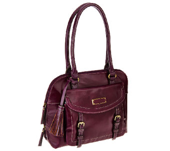 """As Is"" Tignanello Distressed Vintage Leather RFID Satchel - A275160"