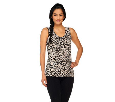 """As Is"" George Simonton Printed Knit Sleeveless Top"