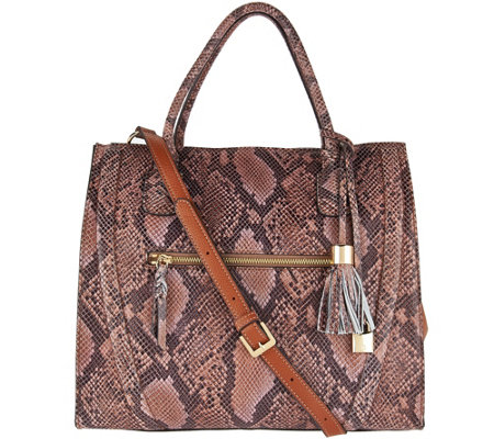 G.I.L.I. Snake Printed Leather Shopper