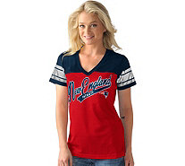 NFL Womens Mesh V-Neck Short Sleeve Tee with Foil - A282260