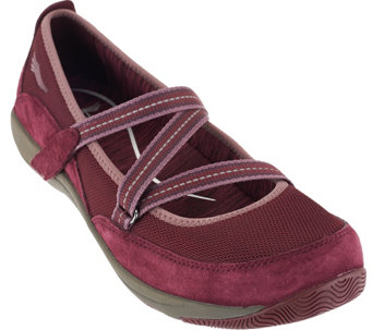"""As Is"" Dansko Suede Stain Resistant Slip-ons with Straps - Hazel - A284060"