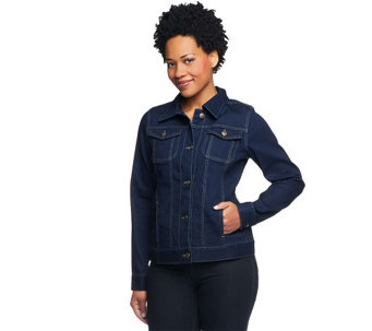 """As Is"" Women with Control My Wonder Jean Button Front Jacket - A284260"