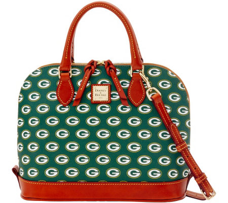 Dooney & Bourke NFL Packers Zip Zip Satchel