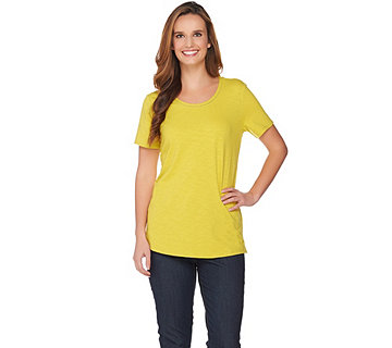 C. Wonder Essentials Slub Knit Curved Hem T-shirt - A286460