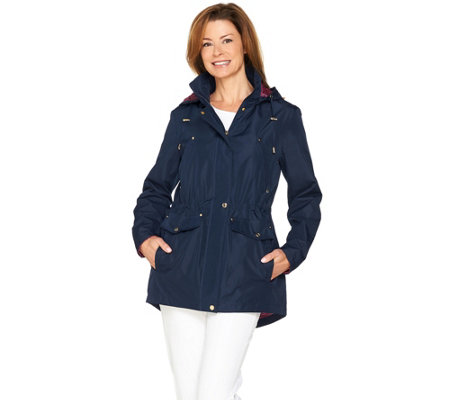 C. Wonder Water Resistant Zip Front Anorak with Removable Hood