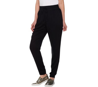 """As Is"" LOGO by Lori Goldstein Jogger Pants with Drawstring Front Tie - A288360"