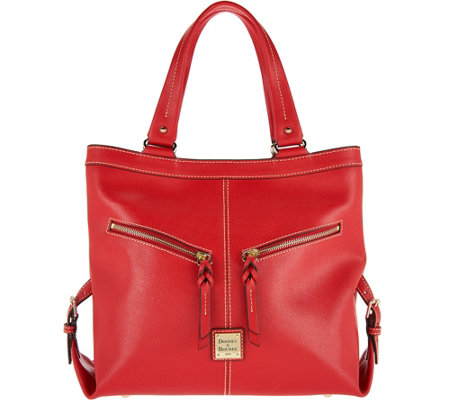 Dooney & Bourke Saffiano Leather Shoulder Bag- Sara