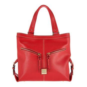 Dooney & Bourke Saffiano Leather Shoulder Bag- Sara