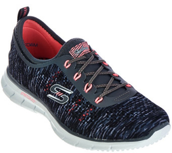 """As Is"" Skechers Skech-Knit Space-Dyed Bungee Slip-ons - A289660"
