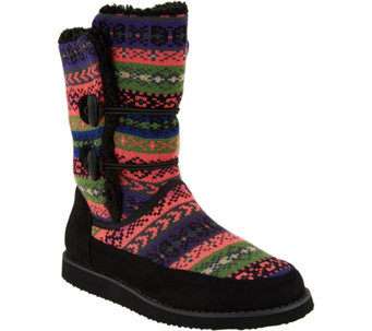 """As Is"" Cuddl Duds Foldover Boots with Faux Fur Lining - Lindsey - A293160"