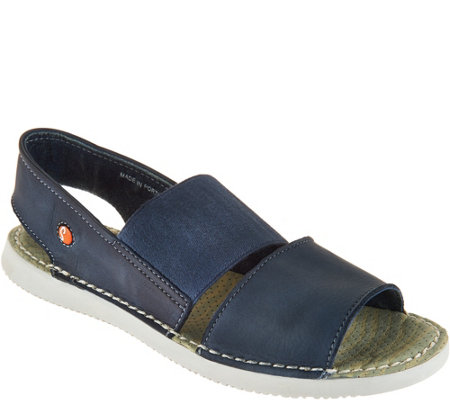 """As Is"" Softinos by FLY London Leather Slip-on Sandals - Tai"