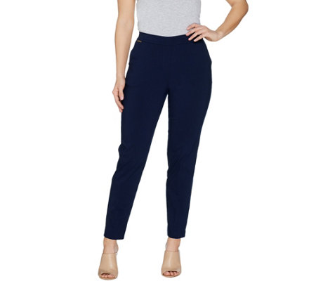 GRAVER Susan Graver Ultra Stretch Pull-On Slim Leg Ankle Pants