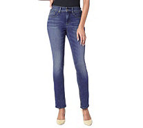 NYDJ Marilyn Straight Leg 5-Pocket Jeans - Heyburn - A303960