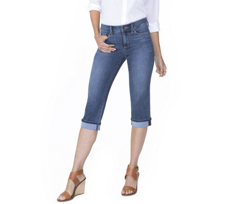 NYDJ Marilyn Cool Embrace Crop Jeans with Cuff - Zimbali