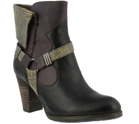 L'Artiste by Spring Step Leather Ankle Boots -Rikeet
