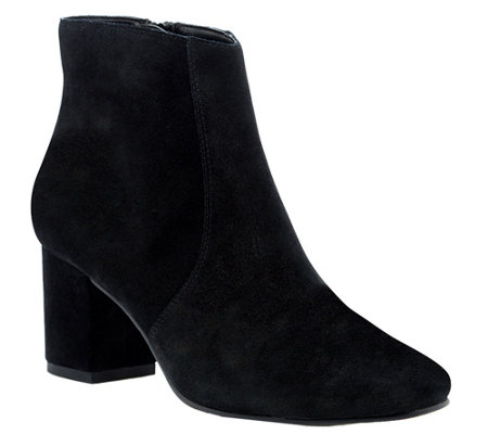 Sole Society Suede Booties - Pippa