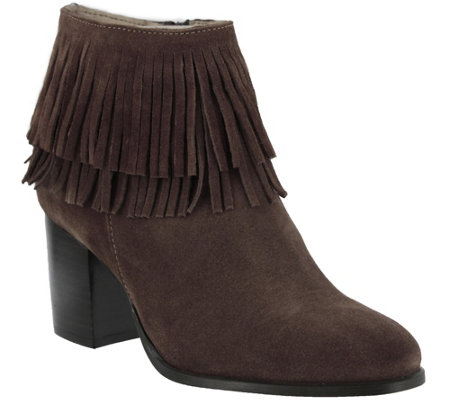 Azura by Spring Step Suede Leather Booties - Bernat