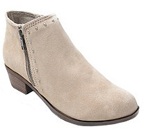 Minnetonka Suede Booties - Brie - A359060