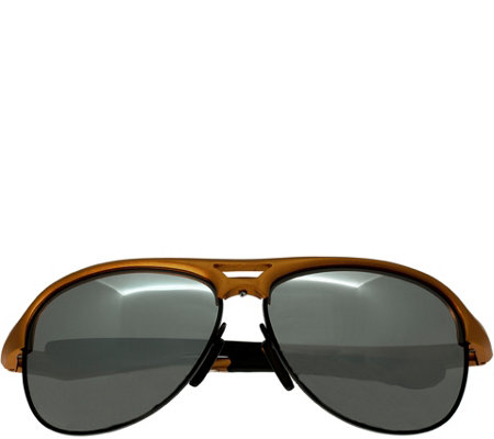 Breed Jupiter Aluminium Orange Sunglasses w/ Polarized Lenses