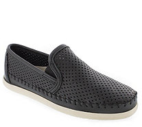Minnetonka Leather Slip-On Sneakers - Pacific - A362560