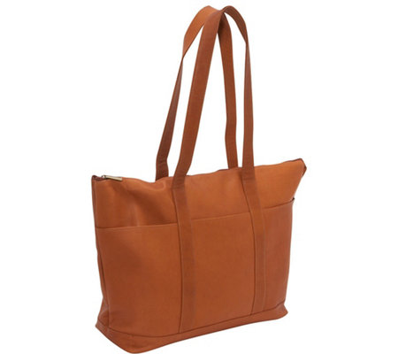 Le Donne Leather Double Strap Large Pocket Tote
