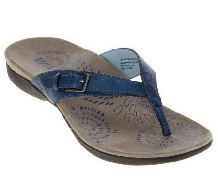 Weil by Orthaheel Restore II OrthoticLeather Thong Sandals