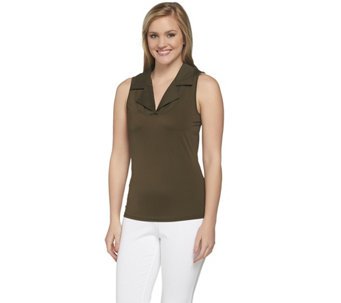 Kathleen Kirkwood Dictrac-Ease Notch Collar Camisole - A224161