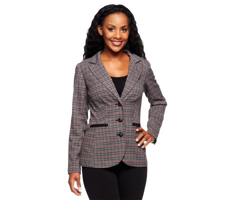 Status by Star Jones Elongated Tweed Jacket