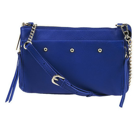 """As Is"" Kelsi Dagger Ayden Pebble Leather Crossbody"